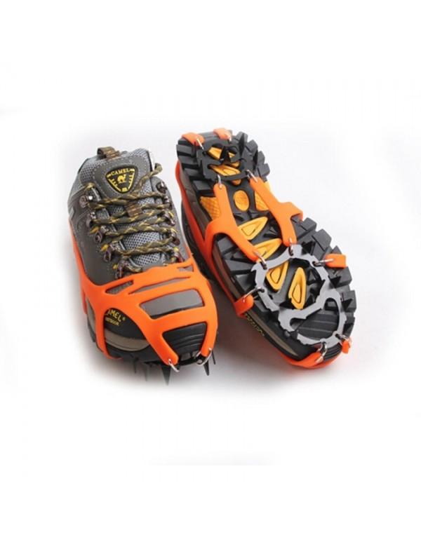 Mountaineering Hiking Crampons 18Teeth Outdoor Ant...