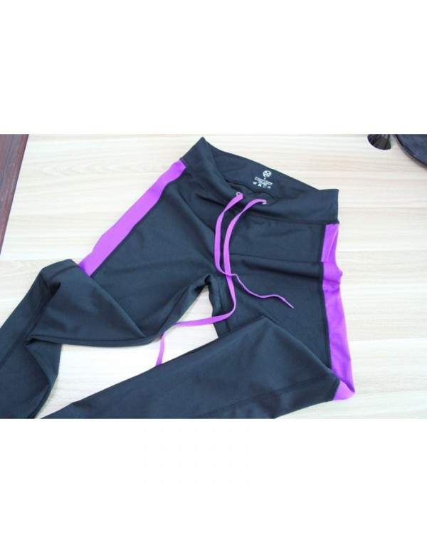 Quick-drying stretch fitness pants female slim fit